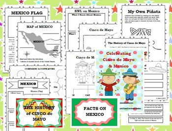 Cinco de Mayo & Mexico: History & Facts (Activities & Materials for 2 Weeks)