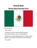 Cinco de Mayo Mexico Map Scavenger Hunt Activity