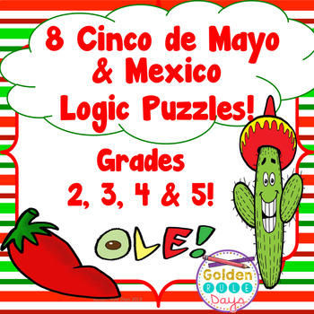 Cinco de Mayo & Mexico Themed Logic Puzzles! Critical Thinking Gifted