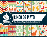 Cinco de Mayo Mexico fiesta themed digital paper patterns