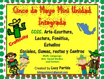 Cinco de Mayo Mini Unidad Integrada Spanish Bilingual Stars Mrs Partida