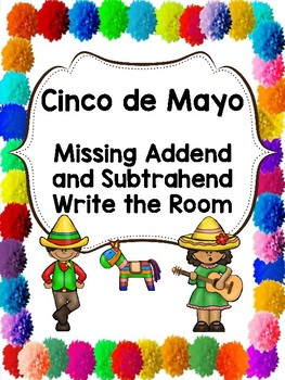 Cinco de Mayo Missing Addend and Subtrahend Cards