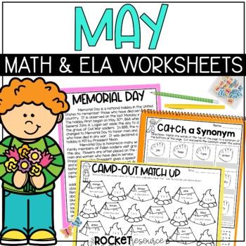Cinco de Mayo, Mother's Day, Memorial Day: May-themed, no-prep printables