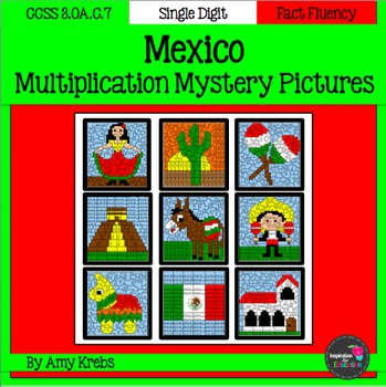 Cinco de Mayo Multiplication Mystery Pictures (Mexico)