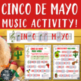 Cinco de Mayo Music Activity! Letter/Music Note Fill-Ins (