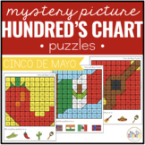 Cinco de Mayo Mystery Picture Hundred's Chart Puzzles