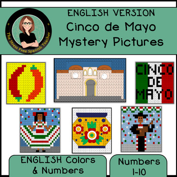Cinco de Mayo Mystery Pictures! Color By Number / Grid / English Version
