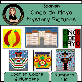 cinco de mayo mystery pictures color by number grid spanish