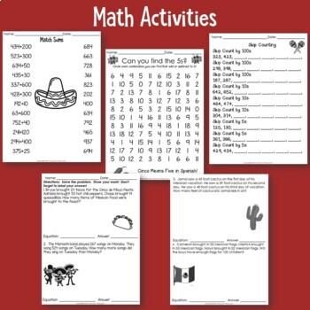 Cinco de Mayo No Prep Activities for Literacy and Math