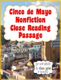 Cinco de Mayo Nonfiction Close Reading Passage and Questions