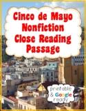 Cinco de Mayo Nonfiction Close Reading Passage and Questions