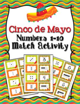 Cinco de Mayo Number Match Activity
