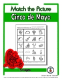 Cinco de Mayo Object Matching - Print, Answer & Color Work