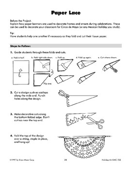 Cinco de Mayo Paper Lace Decoration and Fireworks Art