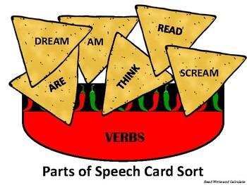 Chips & Salsa: Parts of Speech Sort