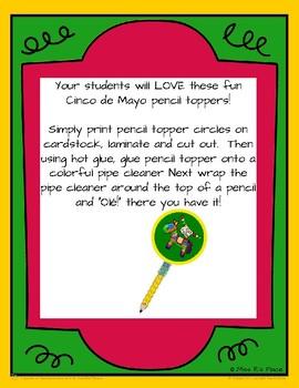 Cinco de Mayo Pencil Toppers