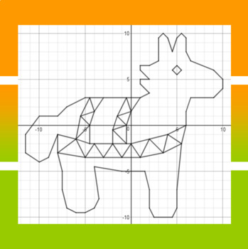 Cinco de Mayo - Pony Pinata - A Coordinate Graphing Activity