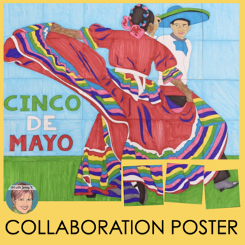 Collaborative Poster Festive Cinco De Mayo Or Hispanic Heritage Month Activity