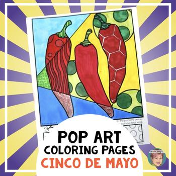 "Cinco de Mayo / Hispanic Heritage Month - ""Pop Art"" Coloring Sheets"