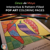Pop Art Coloring Sheets for Cinco de Mayo or Hispanic Heritage Month Activities