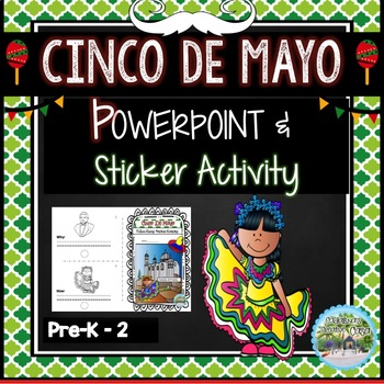 Cinco de Mayo Powerpoint and Sticker Activity Guide Mexico Culture Bundle