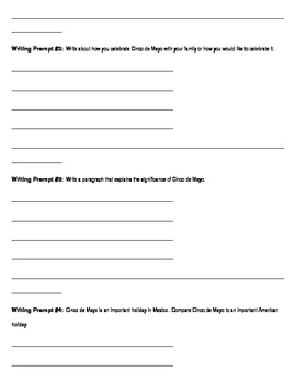 Cinco de Mayo Project/Writing Prompts