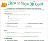 Cinco de Mayo QR Code Webquest