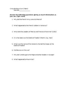 Cinco de Mayo Quiz