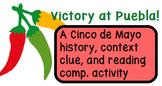 Cinco de Mayo Reading Comprehension Activity
