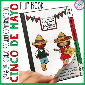 Cinco de Mayo Reading Comprehension Flip Book Activities- 2nd & 3rd grade