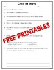 Cinco de Mayo Reading Freebie!  Informational Text, Worksheet, Craft