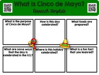 Cinco de Mayo Informatinal Text, Questions, Research, and Grammar Editing