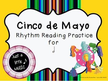 Cinco de Mayo--Rhythm Reading Practice Interactive Game {ta ah}