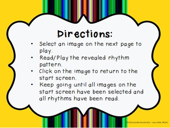 Cinco de Mayo--Rhythm Reading Practice Interactive Game {ta titi rest}