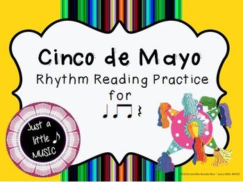 Cinco de Mayo--Rhythm Reading Practice Interactive Game {t