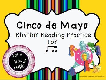Cinco de Mayo--Rhythm Reading Practice Interactive Game {ti tika}