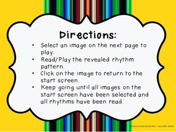 Cinco de Mayo--Rhythm Reading Practice Interactive Game {ti tom}