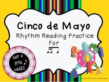 Cinco de Mayo--Rhythm Reading Practice Interactive Game {tika ti}