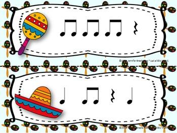 "Cinco de Mayo--Rhythm Reading ""Write the Room"" {ta titi rest}"
