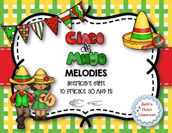 Cinco de Mayo Melodies! Interactive Melodic Practice Game - So-Mi