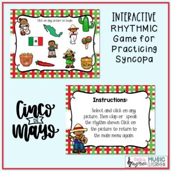 Cinco de Mayo Rhythms! Interactive Rhythm BUNDLE - 7 GAMES!