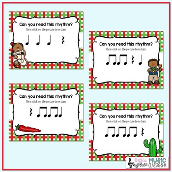 Cinco de Mayo Rhythms! Interactive Rhythm Practice Game - Ta Rest