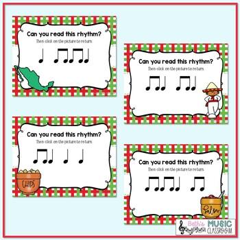 Cinco de Mayo Rhythms! Interactive Rhythm Practice Game - Ta and Ti-ti