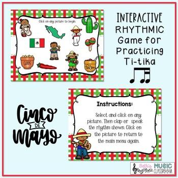 Cinco de Mayo Rhythms! Interactive Rhythm Practice Game - Ti-tika