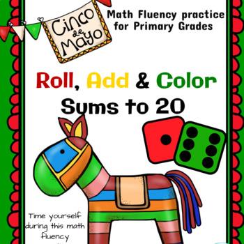 Cinco de Mayo Roll Add & Color Sums to 20