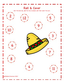 Cinco de Mayo Addition Roll and Cover