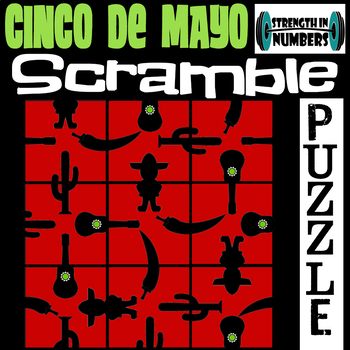 Cinco de Mayo SCRAMBLE Puzzle for Early Finishers