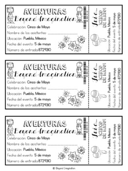 Cinco de Mayo Activities and Printables Postcards and Booklets
