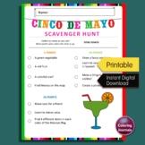 Cinco de Mayo Scavenger Hunt, Fun Mexican Fiesta Party Activity