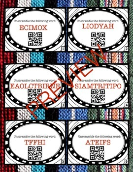 Cinco de Mayo Scoot/ Task Cards {QR code}